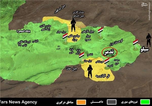عناصر داعش در اطراف تدمر تار و مار شدند