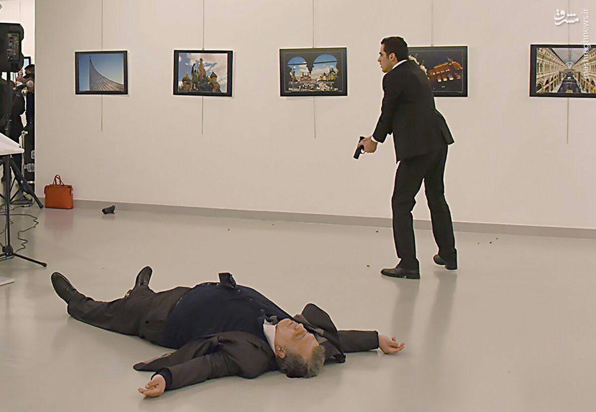 سفیر روسیه در آنکارا کشته شد/ قاتل افسر پلیس ترکیه بود/ روسیه: ترور نتیجه قصور فاحش نیروهای پلیس است +عکس و فیلم