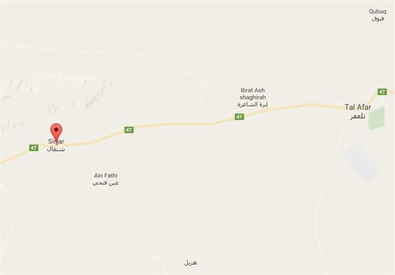 پاکسازی جاده «تلعفر ـ سنجار» توسط حشد الشعبی+ نقشه