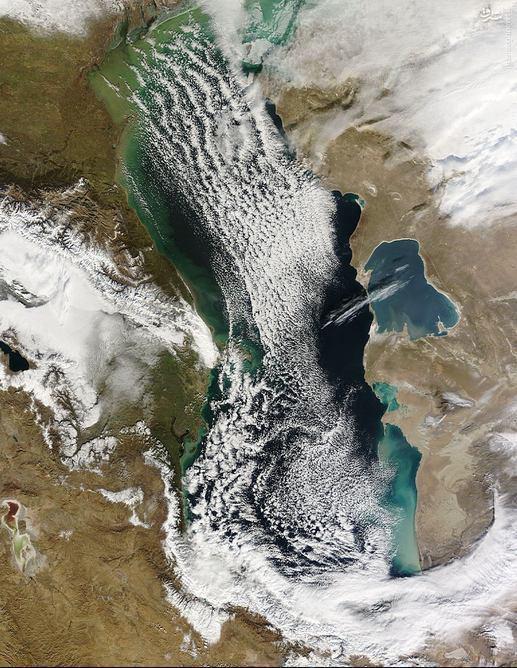 عکس ناسا از فراز دریای خزر