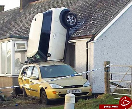 عکس/عجیبترین تصادف