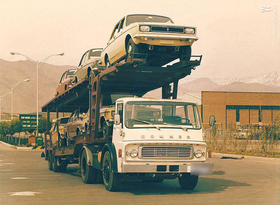 عکس/ محموله پیکان سال 1346 !!یک عکس نوستالژیک که یادآور تاریخچه غنی خودروسازی کشورمون بوده