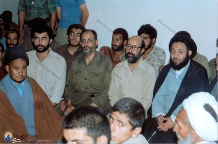 خوزستان، شهید دکتر مصطفی چمران در کنار آیت الله موسوی جزایری