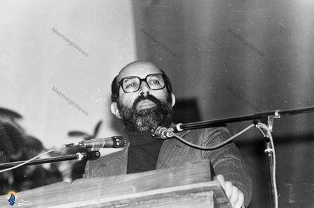 1358/ شهید دکتر مصطفی چمران دریکی از سخنرانی ها