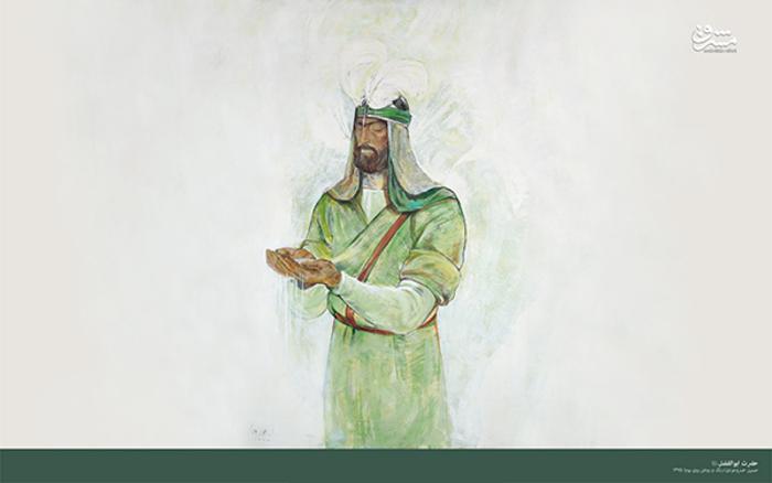 حضرت ابوالفضل علیه السلام؛ اثر حسین خسروجردی - نقاشی رنگ روغن