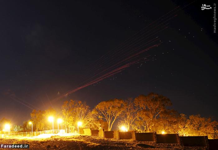 ضد هوایی در جریان حمله هوایی جنگنده های ائتلاف به صنعا. 26 اکتبر