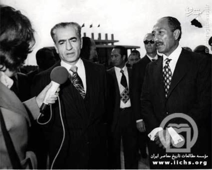 انورسادات و محمدرضا پهلوی