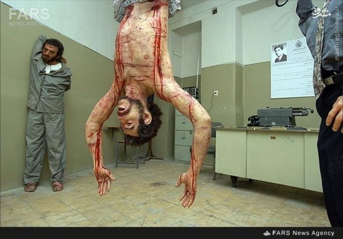 8- نمایی بازسازی شده از صحنه های شکنجه که در محل کمیته مشترک ضد خرابکاری انجام میشد
