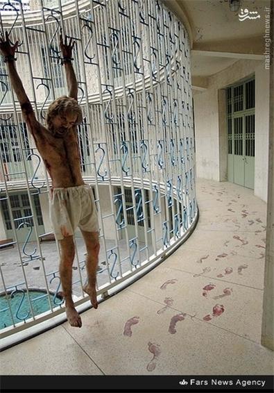 9- نمایی بازسازی شده از صحنه های شکنجه که در محل کمیته مشترک ضد خرابکاری انجام میشد