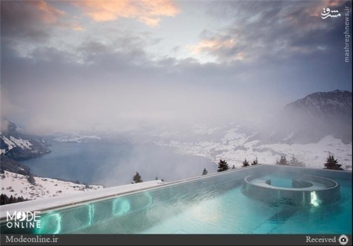 استخر هتل ویلای هانِگ در سوئیس