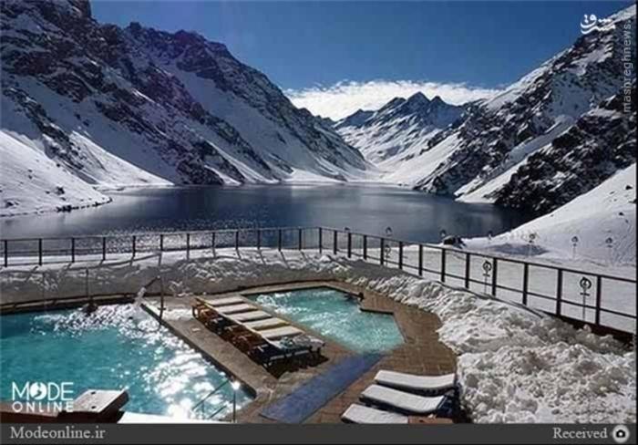 استخر آب گرم در شیلی