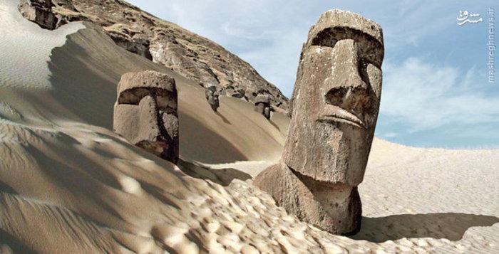 جزیره ایستر در کشور پولینزی در قاره استرالیا