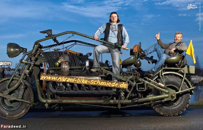سنگینترین موتورسیکلت جهان هازر بایک اشمید  نام دارد که به دست تیلو و ولفرد نیبل از آلمان ساخته شد و هنگامی که در ۲۳ نوامبر ۲۰۰۷ وزن شد،۴٫۷۴۹ تن بود.