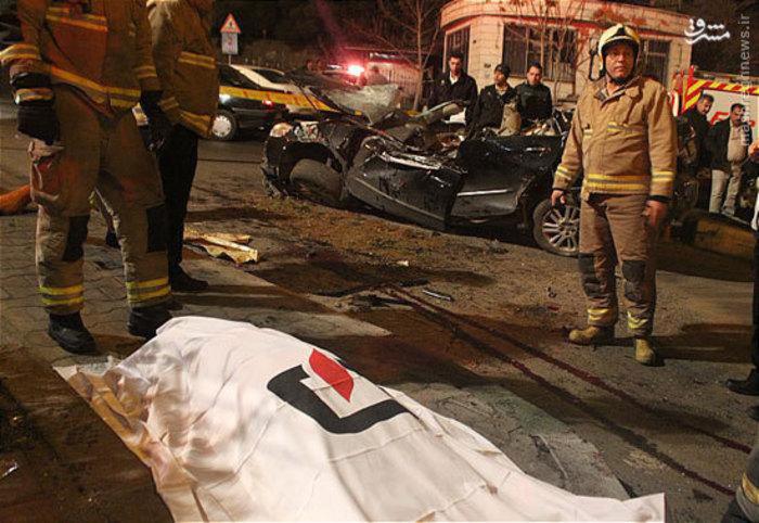 عکس تصادف مرگبار حوادث تهران تصادف خودرو لوکس تصادف خودرو گرانقیمت تصادف خودرو اخبار تهران