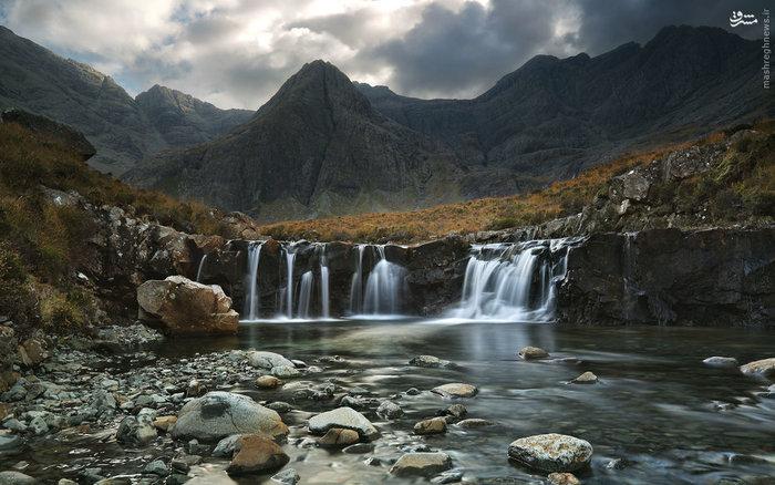 آبشارهای رودخانه بریتل در اسکاتلند