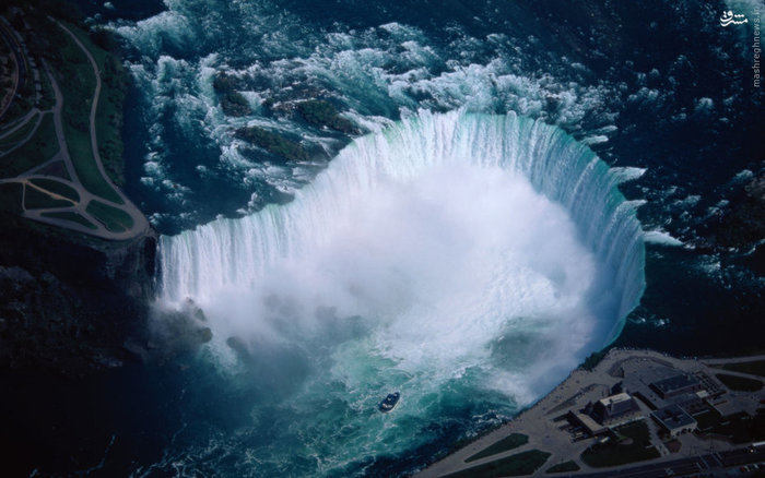آبشار نیاگارا در مرز آمریکا و کانادا