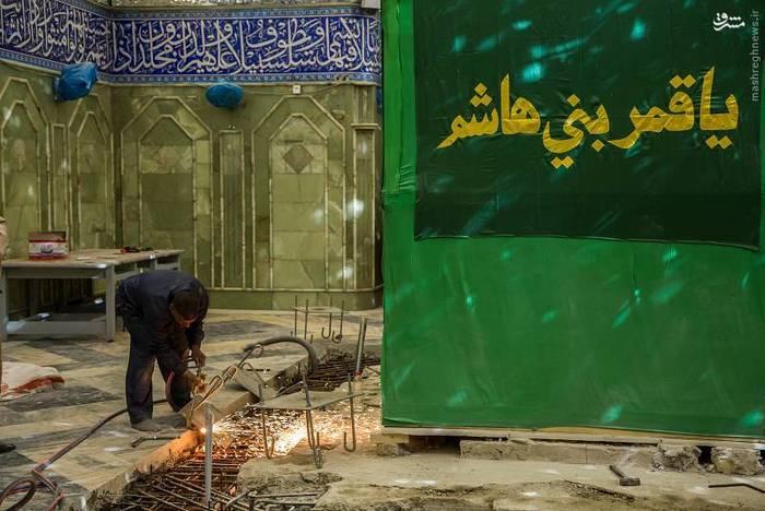 resized 1528435 798 عکس/ آماده سازی نصب ضریح جدید حضرت ابوالفضل العباس (ع)