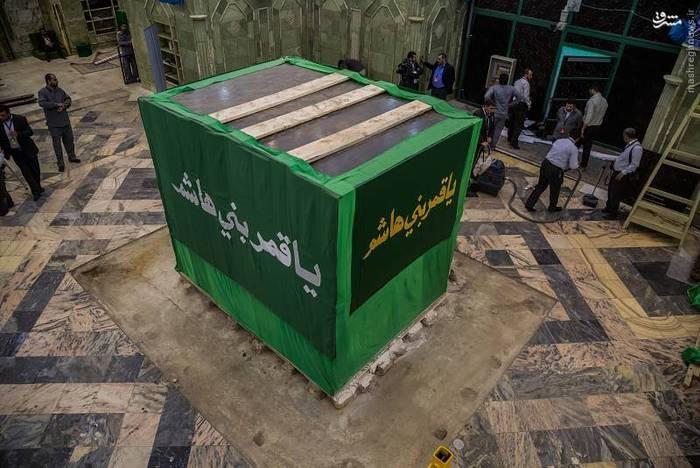 resized 1528436 380 عکس/ آماده سازی نصب ضریح جدید حضرت ابوالفضل العباس (ع)