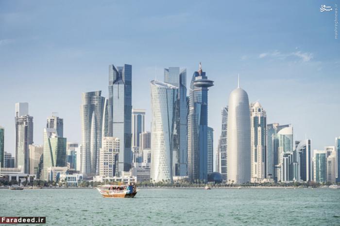 رتبه اول ثروتمندترین: قطر درآمد سرانه: 146000 دلار قطر به عنوان بزرگترین صادر کننده گاز طبیعی مایع به شمار میرود و نفت منبع اصلی درآمدش است. نفت و گاز طبیعی مایع٬ پایه های اقتصاد کشور هستند که بیش از 70 درصد از درآمد کل و همچنین بیش از 60 درصد از تولید ناخالص داخلی را تشکیل میدهد. اتباع قطر تنها 12 درصد از کل جمعیت 2.2 میلیون نفری این کشور است.قبل از ظهور صنعت نفت، قطر کشور فقیری بود با اقتصاد مبتنی بر صید مروارید. امروزه، قطر یک قدرت بزرگ در جهان عرب است