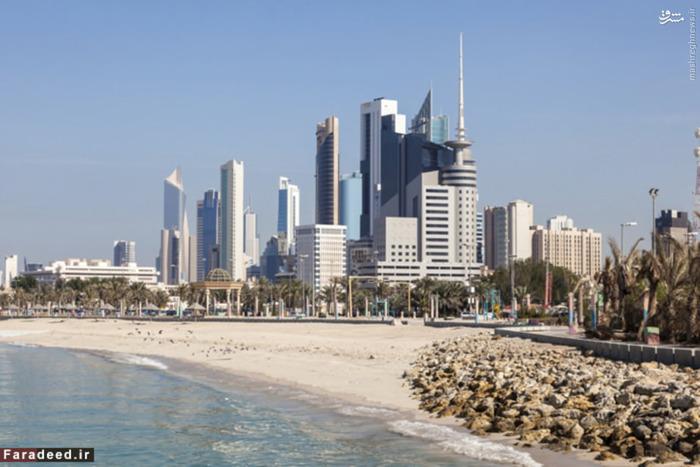 رتبه پنجم ثروتمندترین: کویت درآمد سرانه: 72000 دلار کویت نزدیک به 10 درصد از ذخایر نفت جهان را داراست و چهارمین تولیدکننده در اوپک است. نفت٬ نزدیک به نیمی از تولید ناخالص داخلی و 95 درصد از درآمد حاصل از صادرات و درآمد دولت را تشکیل میدهد. ارز کویت بالاترین ارزش ارزی را در جهان داراست. یک دینار کویت معادل 3.28 دلار آمریکا است