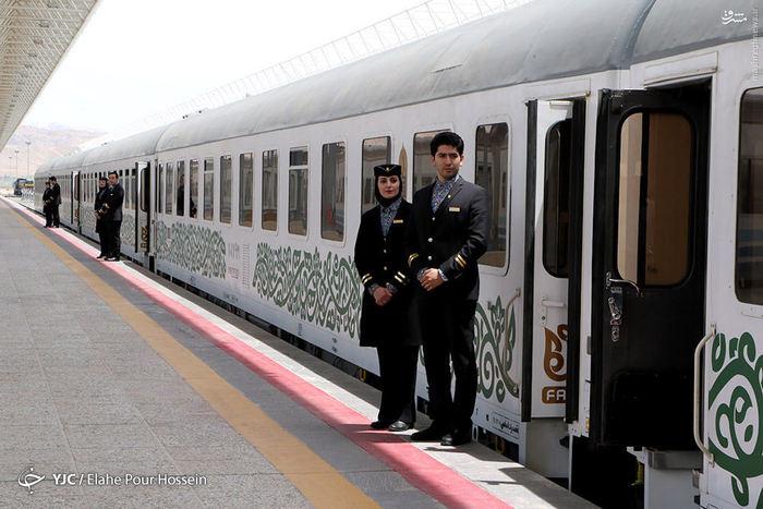 قیمت بلیط قطار قطار تهران مشهد قطار تهران شیراز قطار ۵ ستاره فدک شرکت ریل پرداز نوآفرین