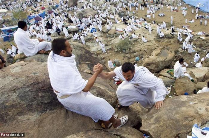 زائران خانه خدا در صحرای عرفات
