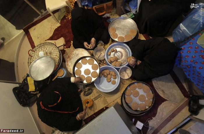 زنان عرب در حال پختن
