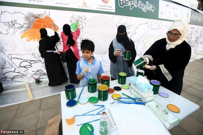 نقاشی زنان عرب بر روی دیوارهای شهر جده