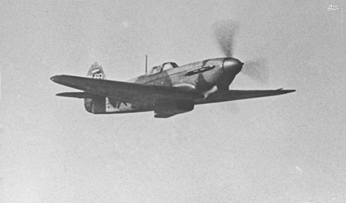 جنگنده « یاک -3» در حال پرواز.