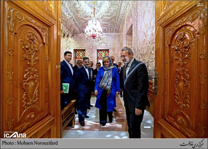 دیدار رئیس جمهور کرواسی با لاریجانی , عکس کولیندا گرابار کیتاروویچ , عکس رئیس جمهور کرواسی