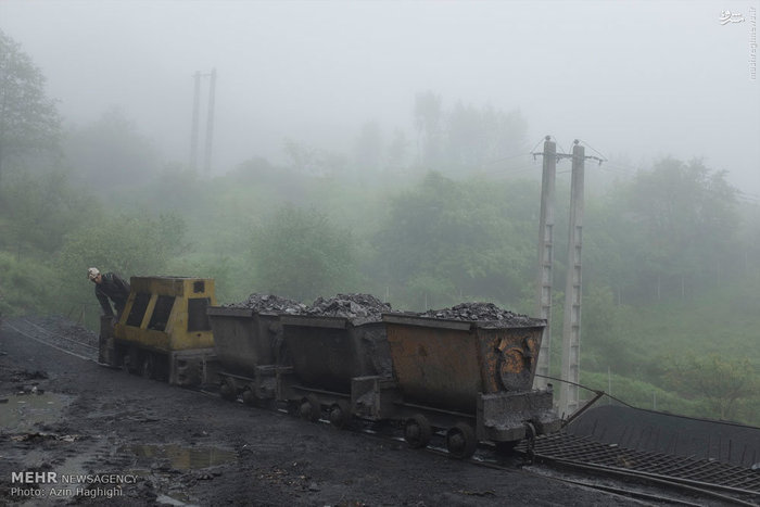 تصاویر: کار در معدن زغال سنگ استان گلستان,کارگر معدن
