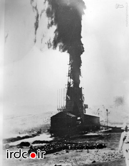 توده دود ناشی از استخراج نفت