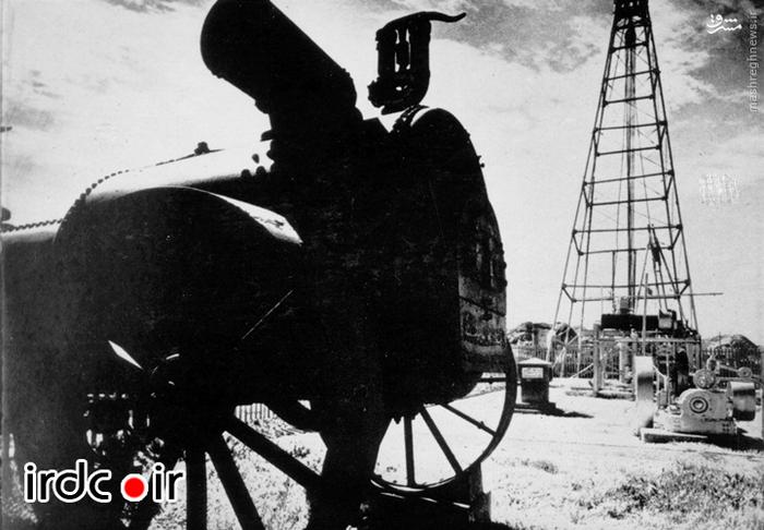 دستگاه ژنراتور مخصوص تولید برق و حفر چاه نفت متعلق به شرکت نفت انگلیس
