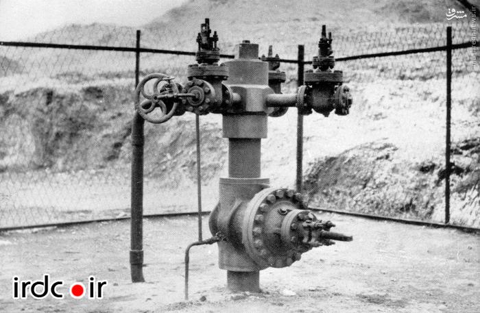 کلاهک و دریچه یکی از چاههای نفت