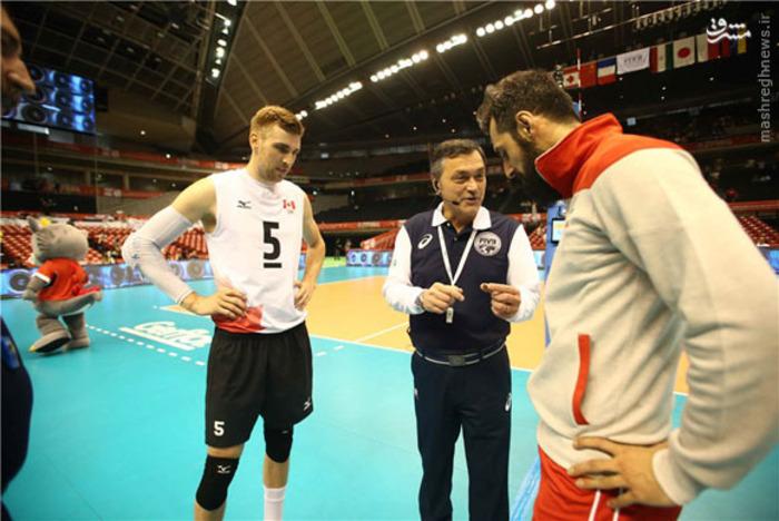 تصاویر/ دیدار تیم های والیبال ایران و کانادا