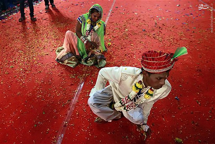 جشن ازدواج ۵۰ زوج هندی
