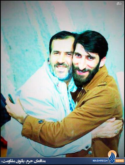 شهید محمد بلباسی در کنار مدافع حرم شهید «رحیم کابلی» این دو عزیز هر دو با هم به شهادت رسیدند