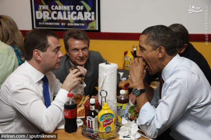 صبحانه کاری دیمیتری مدودف رئیس جمهور روسیه و باراک اوباما رئیس جمهور آمریکا - 2010