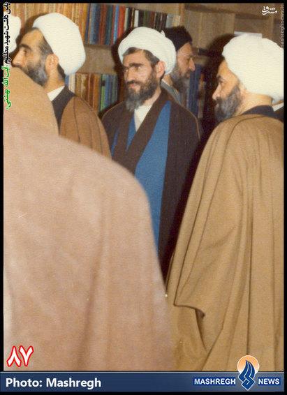 آقایان شهید بهشتی، شهید ربانی املشی و مرحوم آیت الله مشکینی