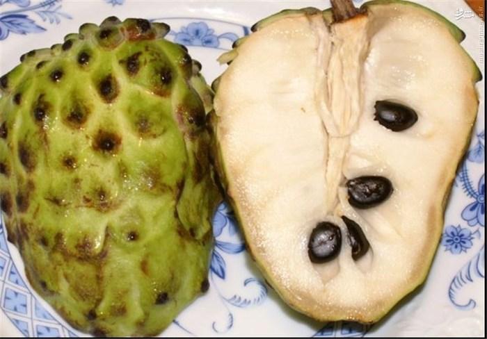 آتمویا: این میوه، بومی مناطق استوایی آمریکا است و یک منبع عالی از ویتامین B1،B2،C، کلسیم، آهن، پتاسیم و مواد معدنی به حساب میآید. این میوه همچنین یک منبع سریع انرژی برای ورزشکاران و مناسب برای دستگاه گوارش است.