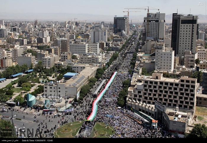 راهپیمایی روز جهانی قدس در مشهد مقدس