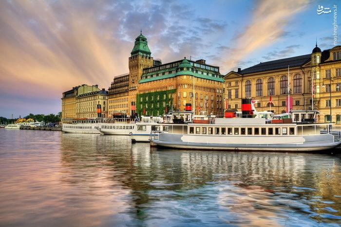 قایق ها و اسکله زیبا در استکهلم سوئد