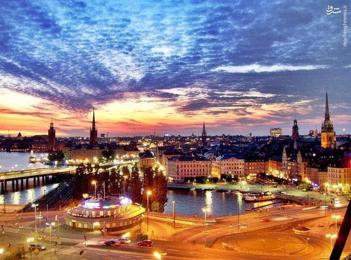ونیز شمال اروپا - آسمان ابری شهر استکهلم سوئد