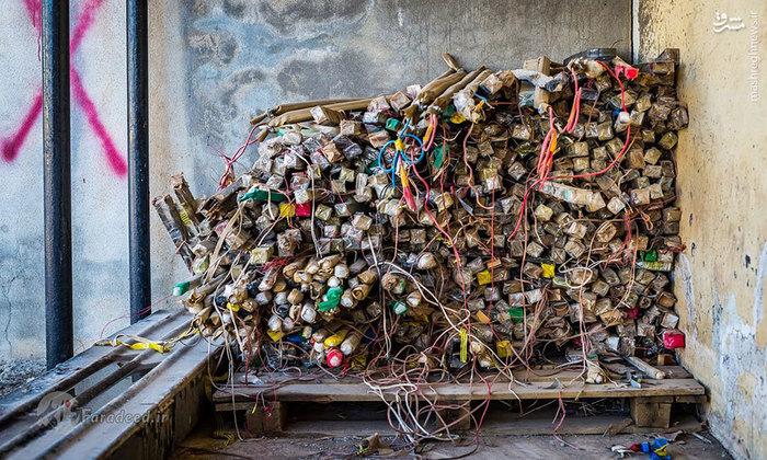 بمبهای دستساز خنثی شده که در نمایشگاه