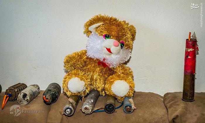 بمب دستسازی که در اسباببازی کودکان جاسازی شده است