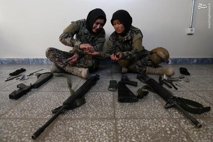 آموزش سربازان زن در افغانستان