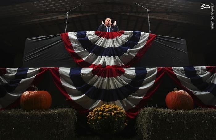 حضور ترامپ با تبلیغات ویژهاش در ایالت کارولینای شمالی در آستانه برگزاری انتخابات ریاستجمهوری در سه شنبه هفته جاری