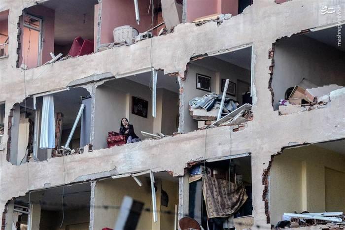 شگفتی شهروند ترک در اتاقش پس از انفجار مهیب دیاربکر