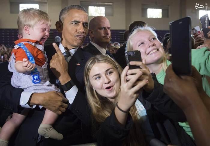 فعالیت تبلیغاتی اوباما برای هم حزبی خود در ایالت اوهایو
