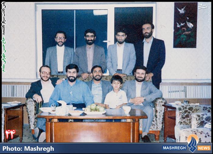 حسن طهرانی مقدم (ایستاده- نفر دوم از راست)- سفر هیات نظامی ایران به «کره شمالی» - شهید «حاج حسن شفیع» زاده نیز در عکس دیده می شود